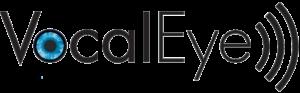 The VocalEye Descriptive Arts Theatre Society logo.